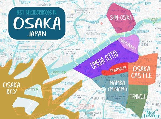 mapa de osaka japón