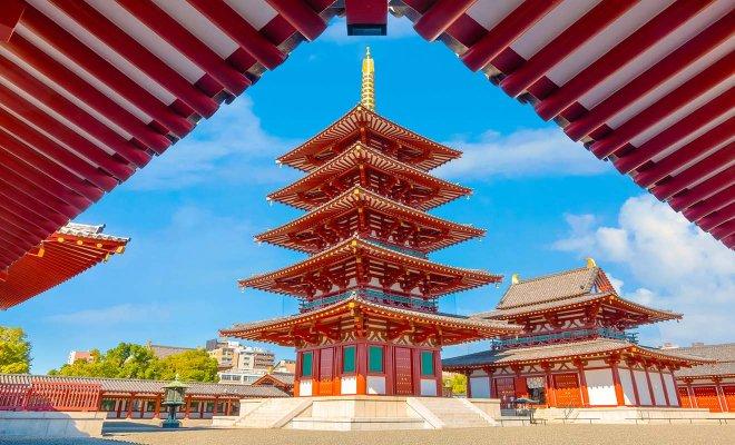 templo más antiguo de osaka japón