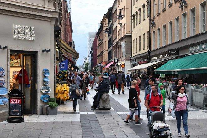 calle comercial de estocolmo
