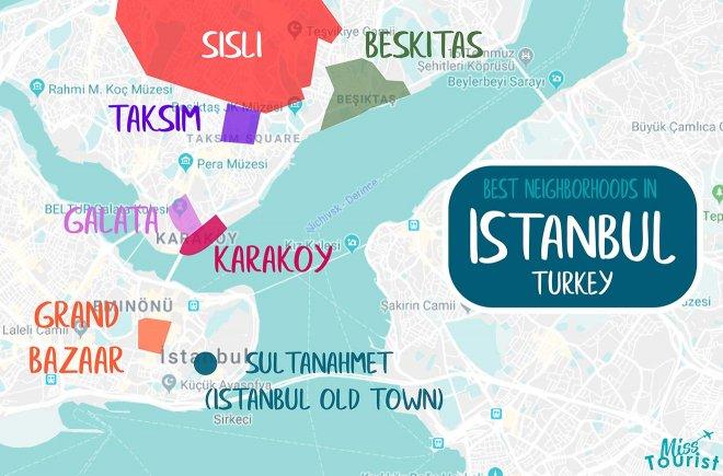 áreas de Estambul