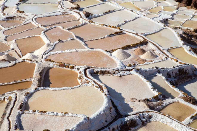 estanques de evaporación de sal peruana