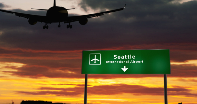 señal de dirección del aeropuerto
