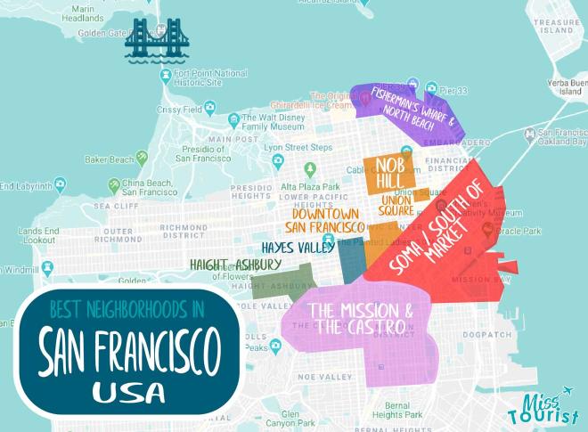 Las mejores zonas para alojarse en San Francisco