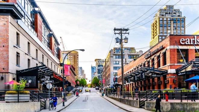 área industrial histórica de Vancouver