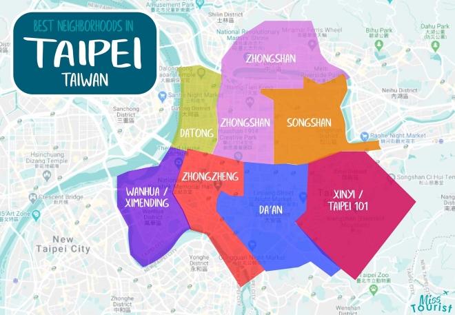 distritos de taipei