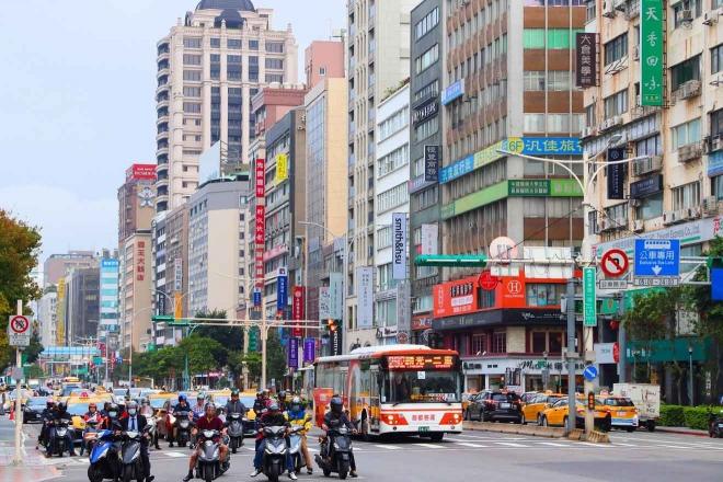 zona comercial del distrito de zhongshan