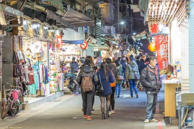 mercado nocturno de shida taipei