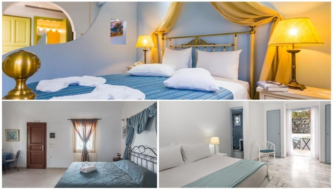 dónde dormir en Santorini en Grecia