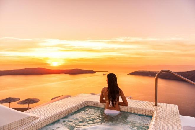 Piscina infinita de Santorini