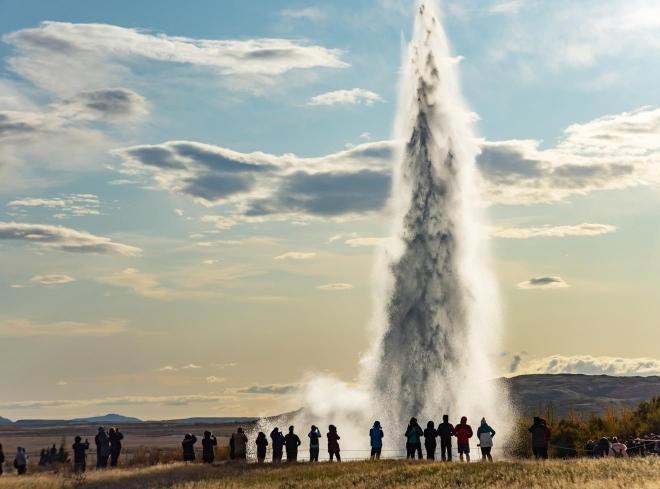 géiser islandés strokkur