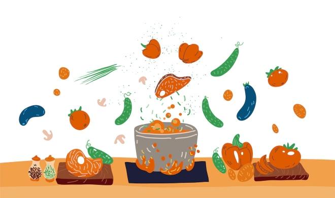 caja de comida receta pedir comida en línea