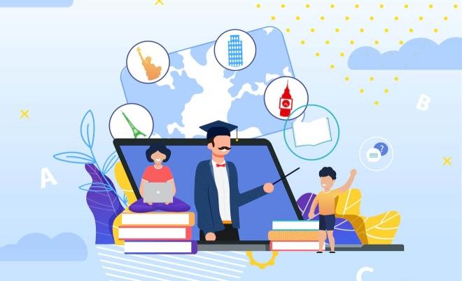 Aprendizaje en línea en casa