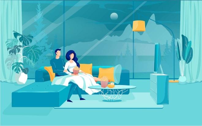 ver una película en línea desde casa