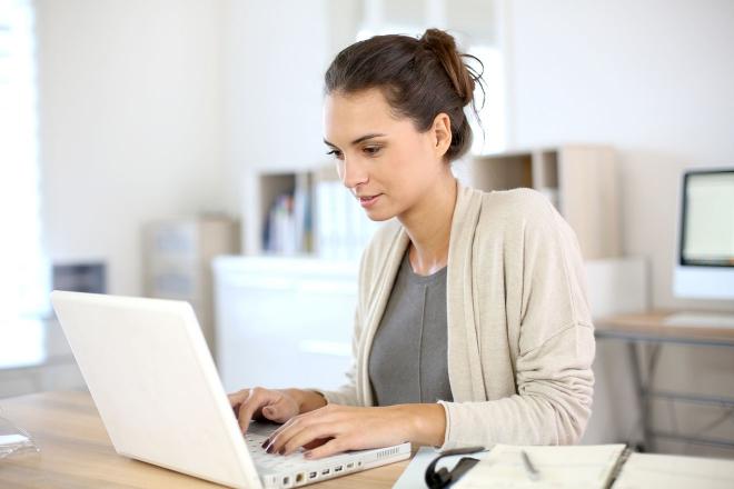 travailler sur ordinateur portable