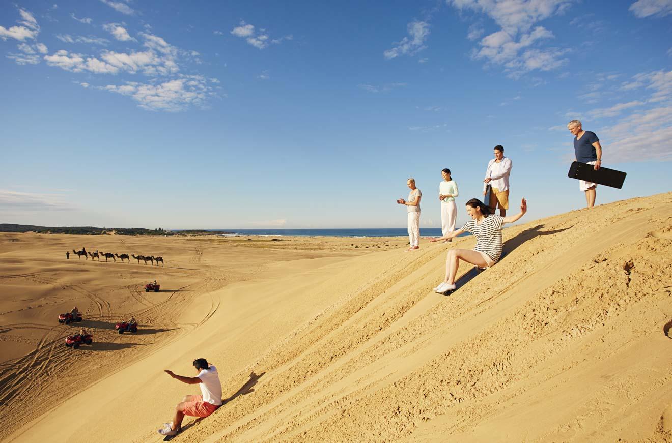 Dunas de arena de Stockton Stockton Beach Newcastle Australia