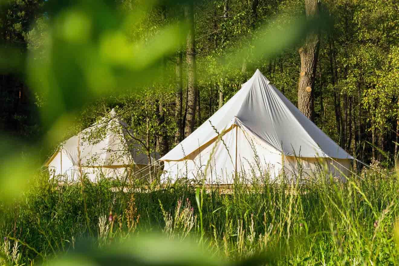 Tiendas de campaña donde alojarse en Glenworth Valley