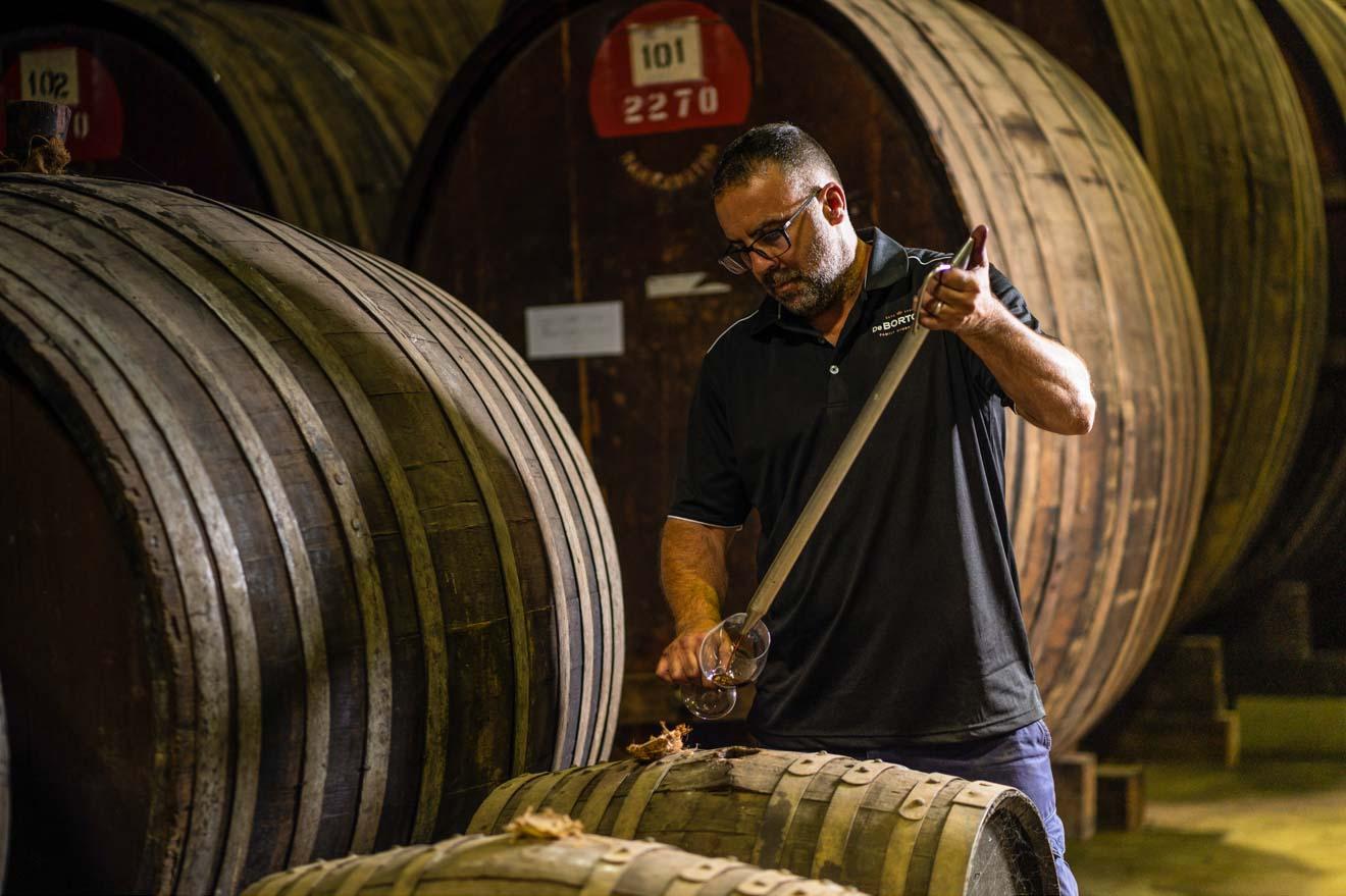 De Bortoli Wines, Bilbul, al este de Griffith, degustación privada de vinos Hunter Valley