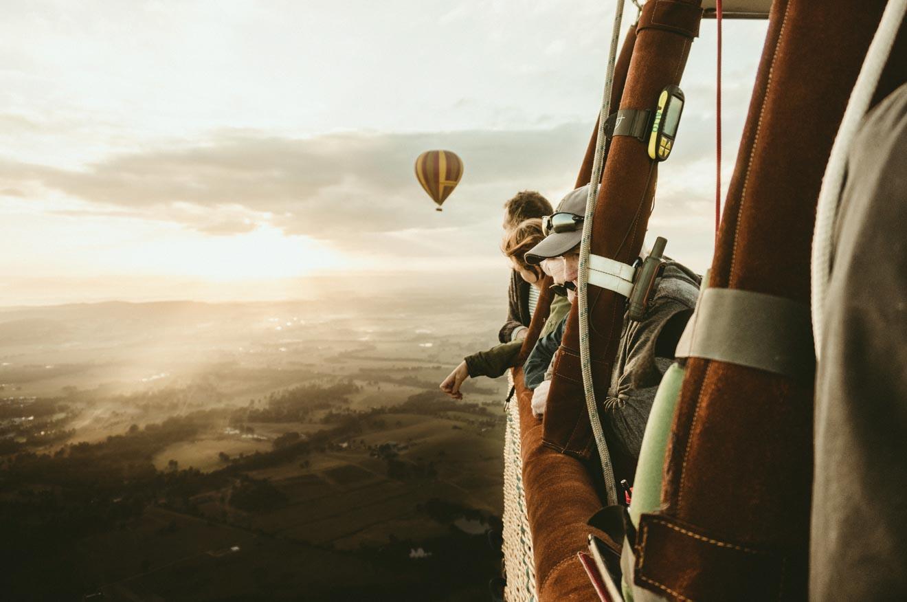 Paseo en globo aerostático sobre el recorrido Hunter desde SydneyValley