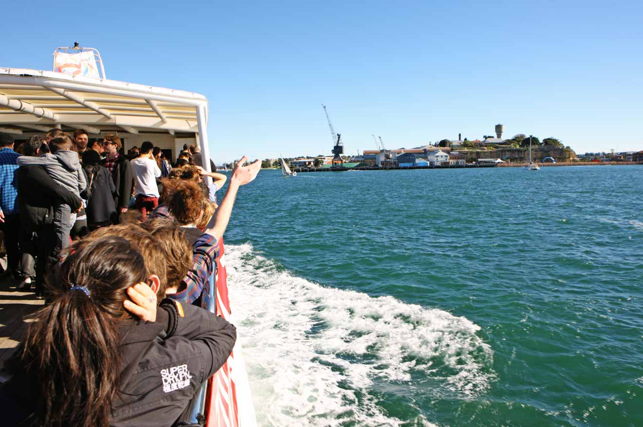 Viaje en ferry a la isla Cockatoo