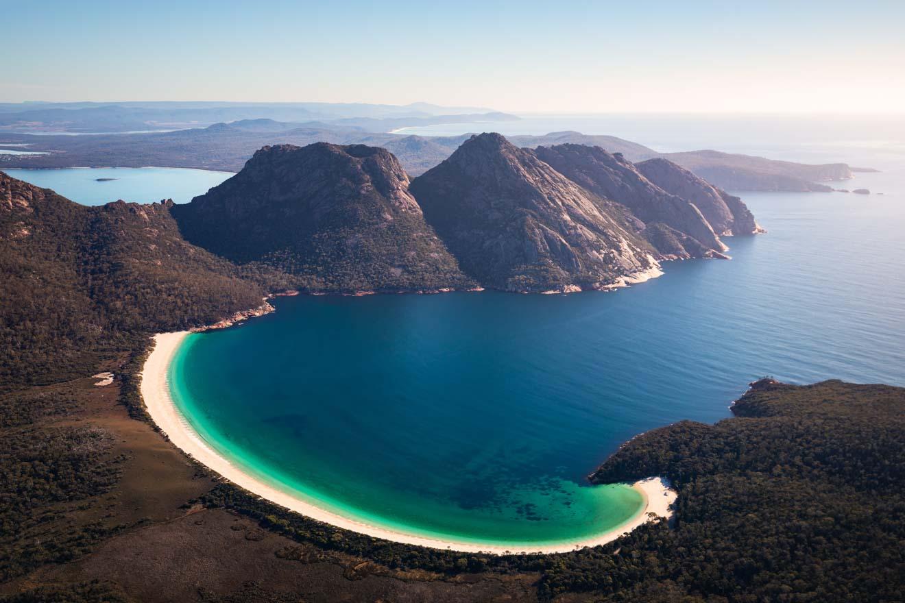 Playa de arena blanca superior tasmania