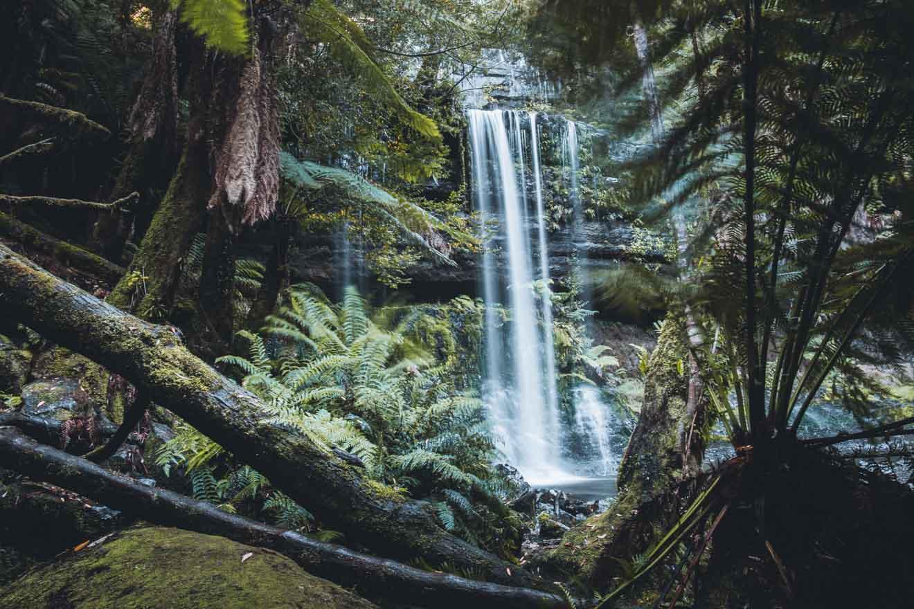 Russell Falls Mt Field National Park Tasmania atracción turística