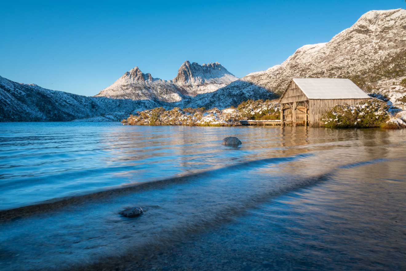 Cradle Mountain en Tasmania Temporada de nieve