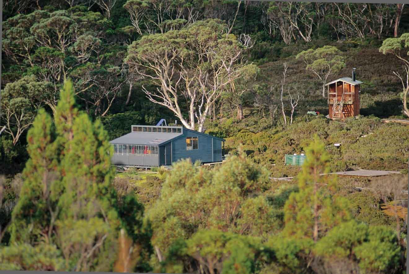 Cascada Hut Overland track Alojamiento