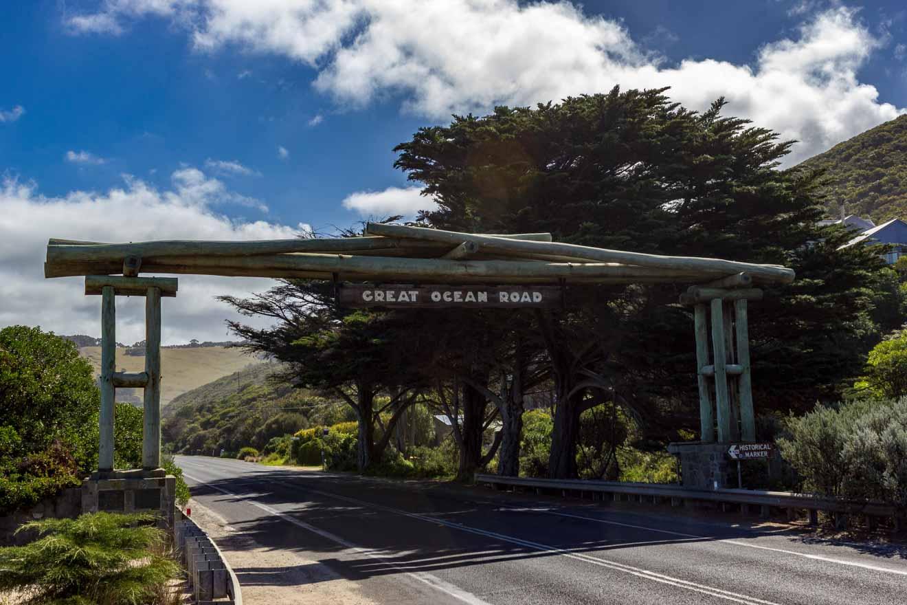 Mapa de atracciones de Great Ocean Road - Itinerario de Wooden Gate Great Ocean Road