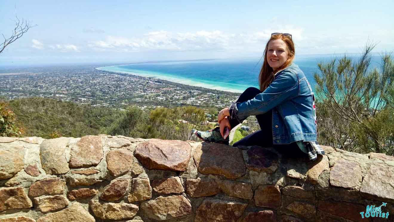 Kate en Lookout gratis Cosas que hacer en la península de Mornington