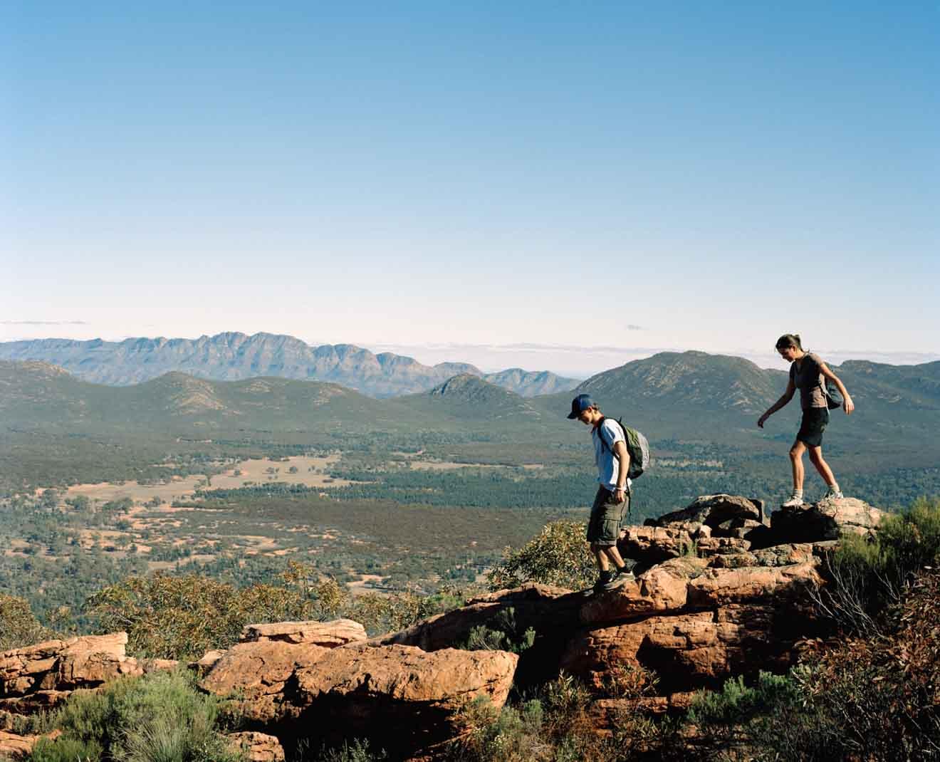 SU; Gamas de Flinders; libra wilpena camina