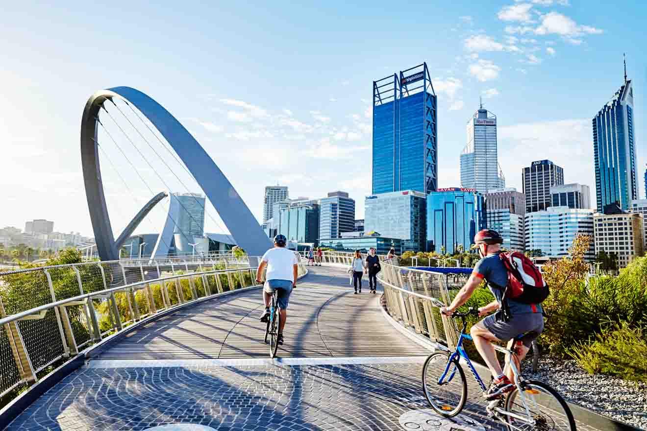 Actividades de ciclismo en Elizabeth Quay, Perth