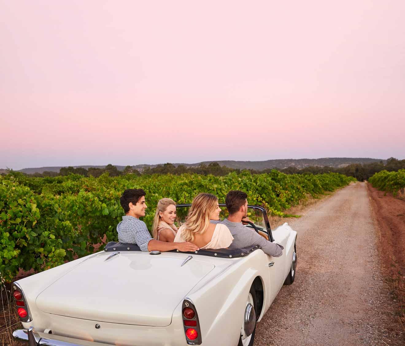 itinerario de la ruta del vino del valle del cisne