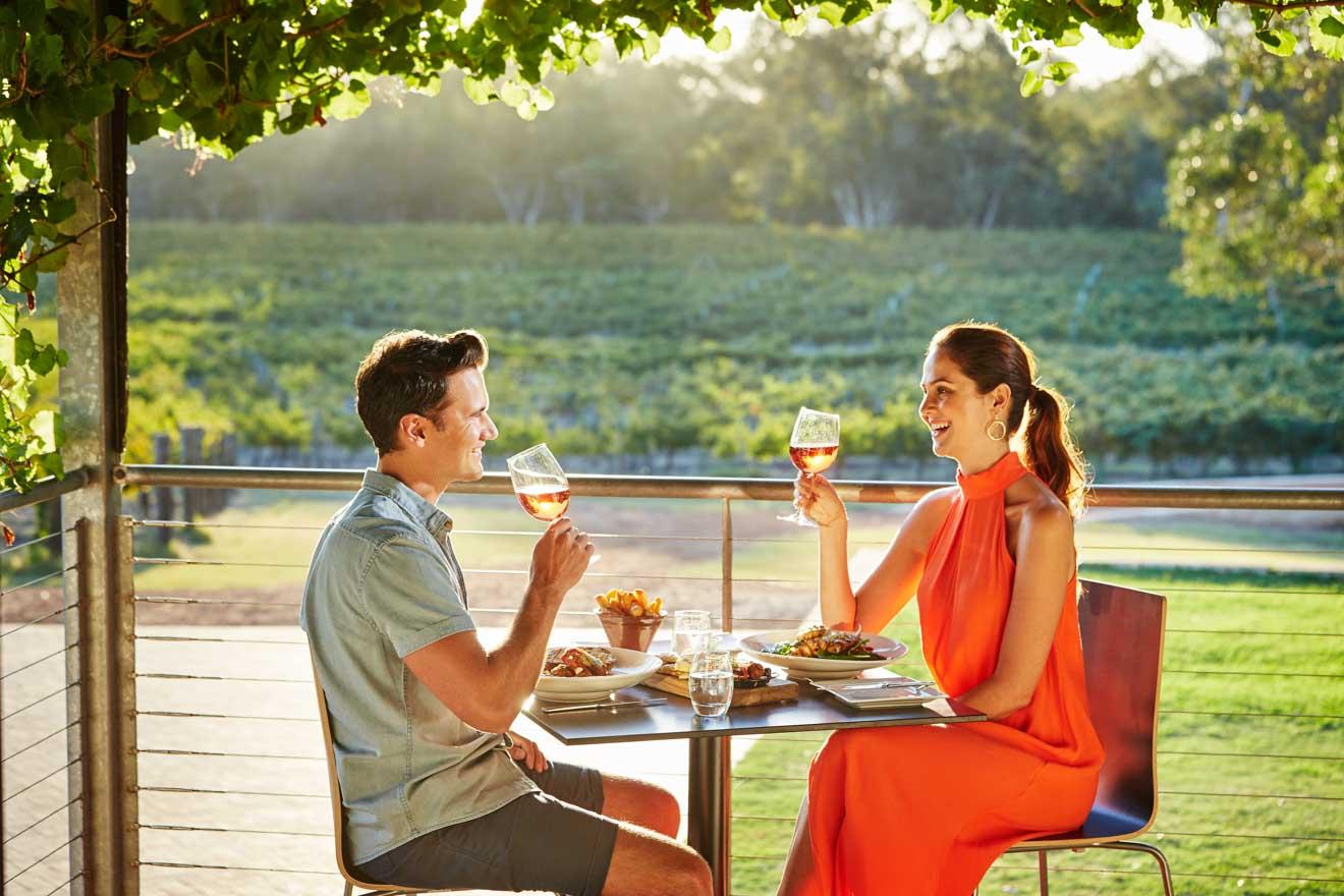 cosas románticas para hacer en Swan Valley cerca de Perth