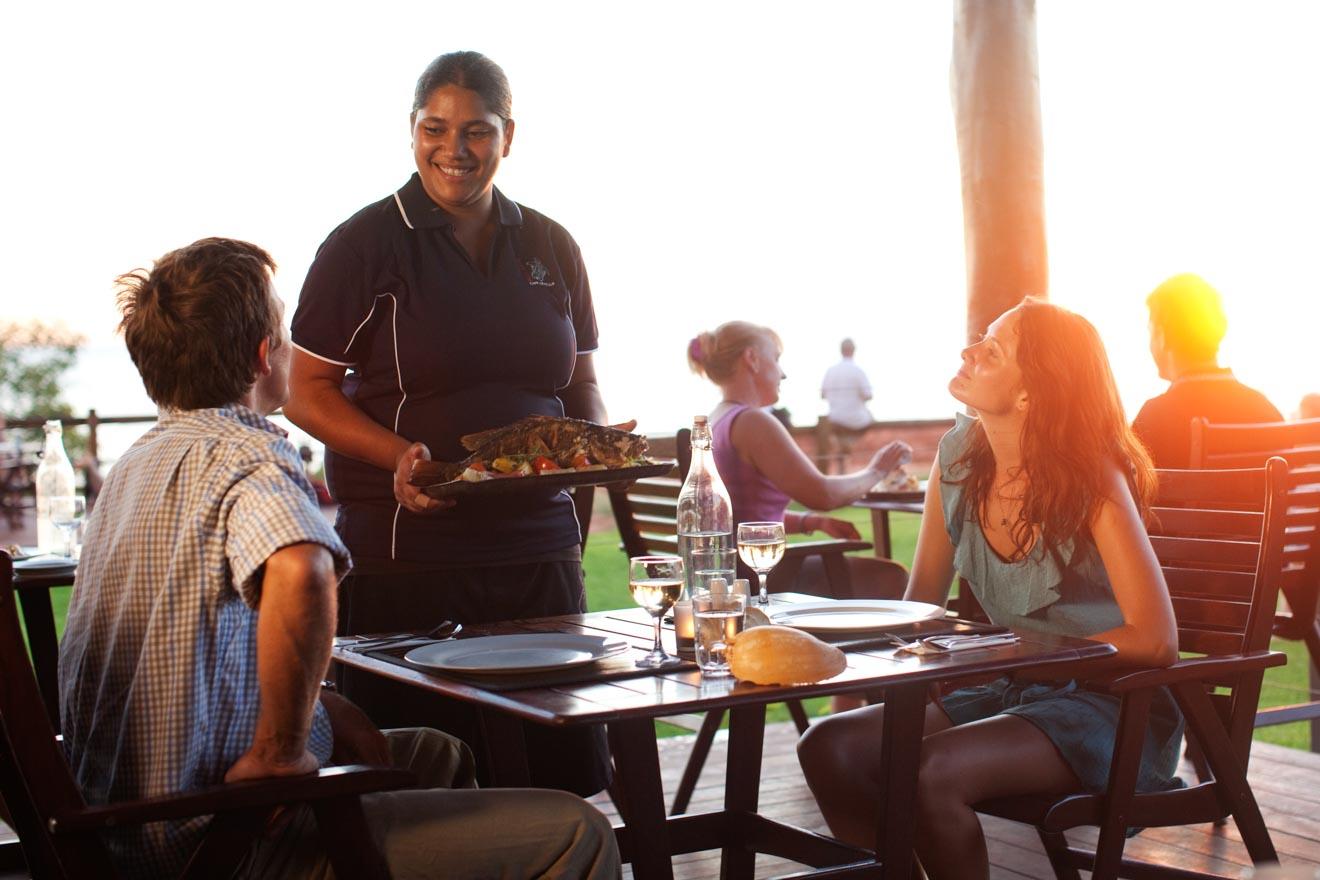 lugares para comer Kooljaman en Cape Leveque Actividades en Broome