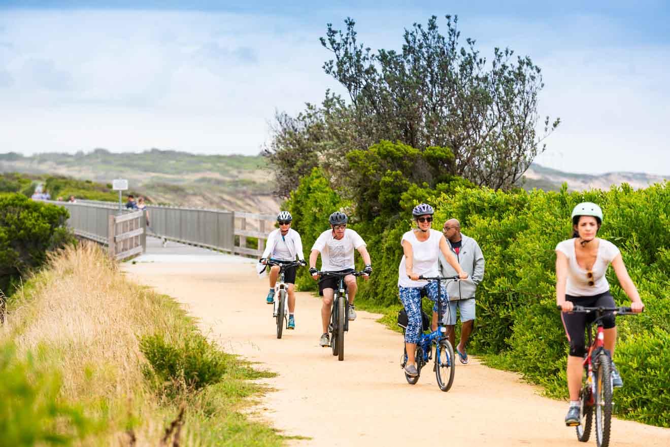 Actividades de ciclismo en la colina Souverain, Ballarat