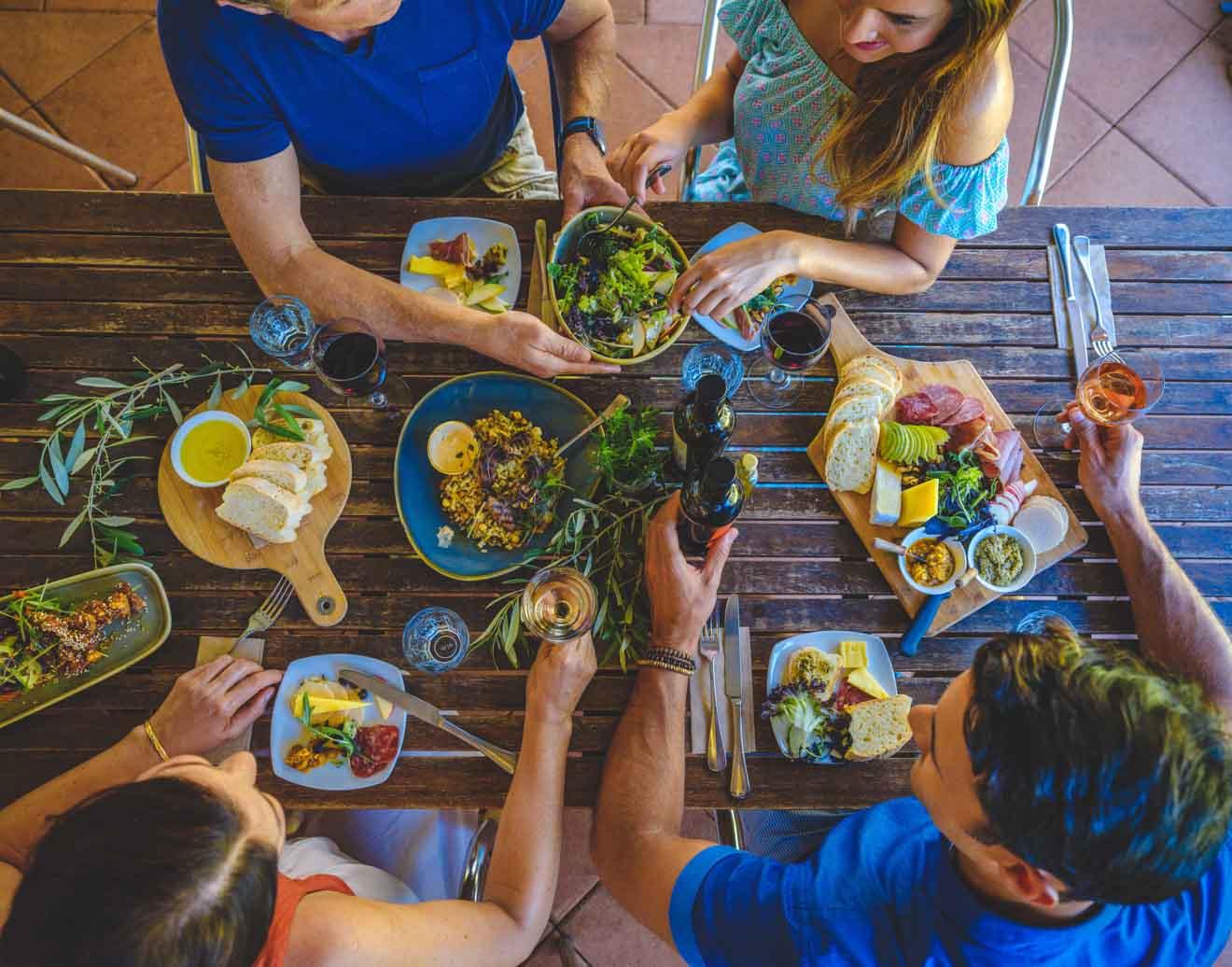 Margaret River Wineries comida abierta para la cena