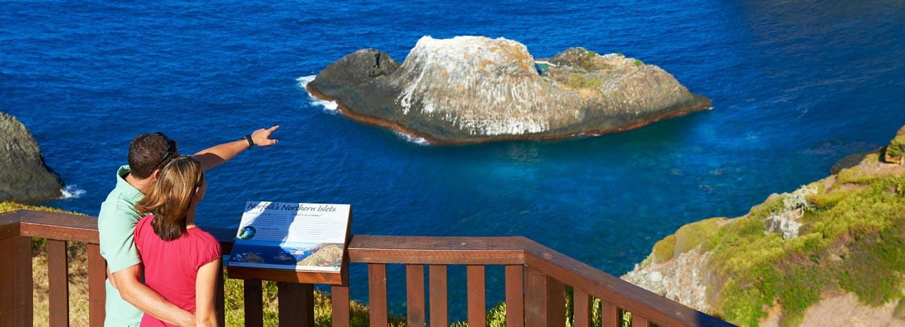 Su guía para planear un puesto de observación del Capitán Cook en la Isla Norfolk