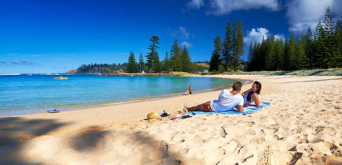 principales atracciones costa australiana Isla Norfolk
