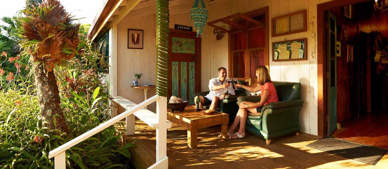 dónde comer en el restaurante Dino en Bumboras Island Norfolk