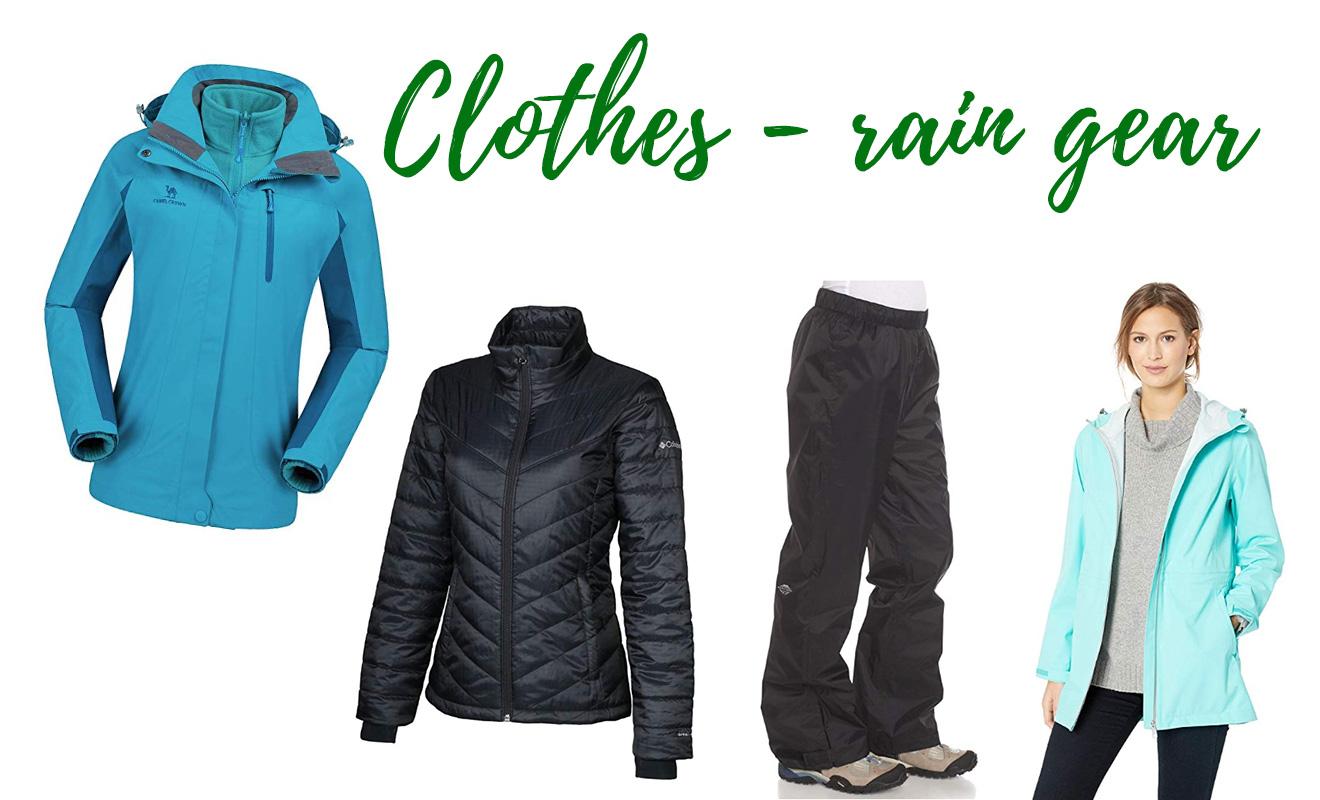 Lista completa de equipaje del Kilimanjaro Ropa Chaquetas y ropa impermeable