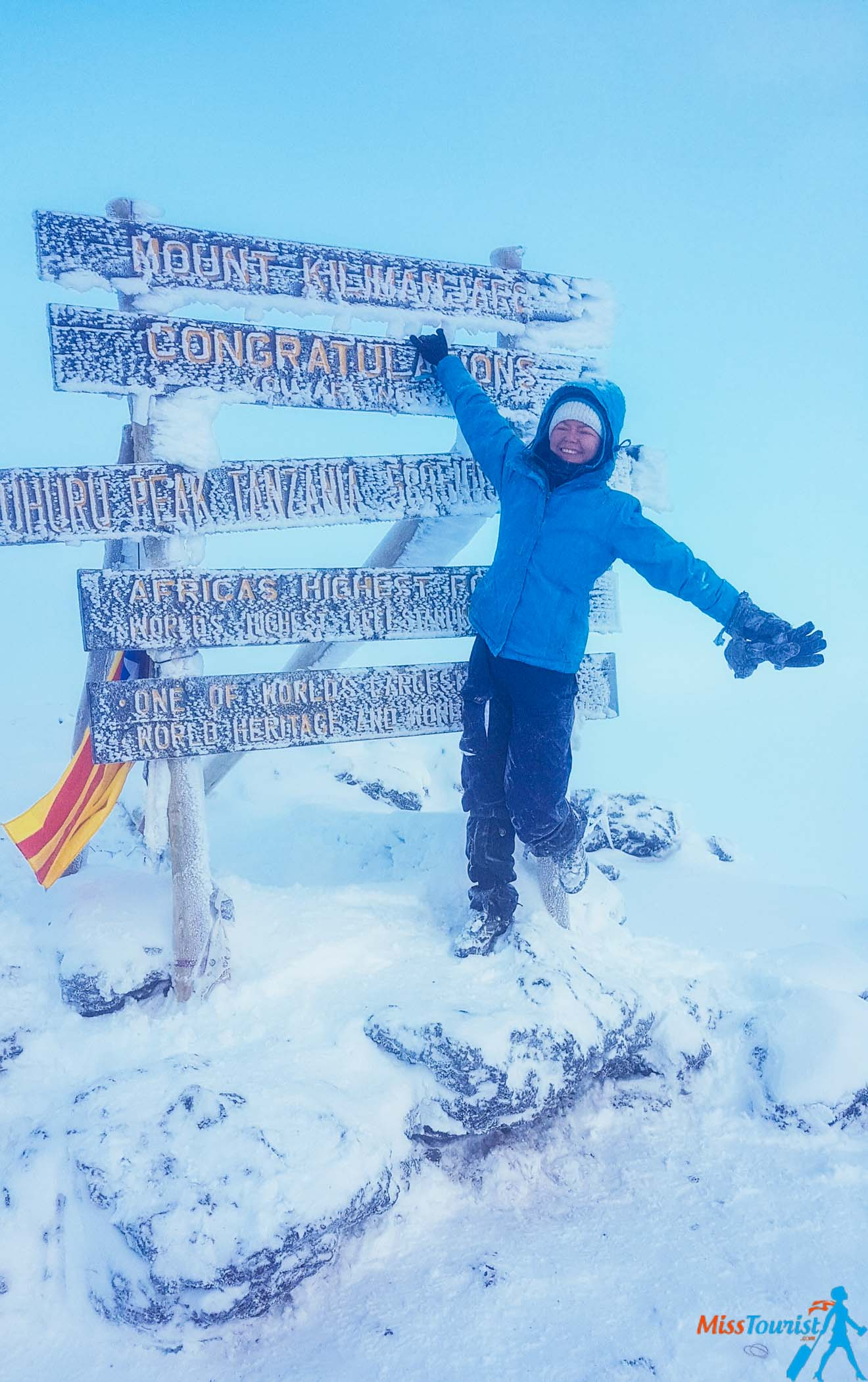 "Climbing Kilimanjaro – 7 Things You Should Know Before You Go Uhuru Peak"" class=""wp-image-27907"" width=""266"" height=""424"" srcset=""https://misstourist.com/wp-content/uploads/2019/04/Climbing-Kilimanjaro-–-7-Things-You-Should-Know-Before-You-Go-Uhuru-Peak-660x1051@2x.jpg 1320w, https://misstourist.com/wp-content/uploads/2019/04/Climbing-Kilimanjaro-–-7-Things-You-Should-Know-Before-You-Go-Uhuru-Peak-188x300.jpg 188w, https://misstourist.com/wp-content/uploads/2019/04/Climbing-Kilimanjaro-–-7-Things-You-Should-Know-Before-You-Go-Uhuru-Peak-400x637.jpg 400w, https://misstourist.com/wp-content/uploads/2019/04/Climbing-Kilimanjaro-–-7-Things-You-Should-Know-Before-You-Go-Uhuru-Peak-660x1051.jpg 660w, https://misstourist.com/wp-content/uploads/2019/04/Climbing-Kilimanjaro-–-7-Things-You-Should-Know-Before-You-Go-Uhuru-Peak-320x509.jpg 320w, https://misstourist.com/wp-content/uploads/2019/04/Climbing-Kilimanjaro-–-7-Things-You-Should-Know-Before-You-Go-Uhuru-Peak-188x300@2x.jpg 376w, https://misstourist.com/wp-content/uploads/2019/04/Climbing-Kilimanjaro-–-7-Things-You-Should-Know-Before-You-Go-Uhuru-Peak-400x637@2x.jpg 800w, https://misstourist.com/wp-content/uploads/2019/04/Climbing-Kilimanjaro-–-7-Things-You-Should-Know-Before-You-Go-Uhuru-Peak-320x509@2x.jpg 640w"" sizes=""(max-width: 266px) 100vw, 266px"